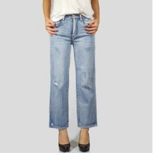 BLANKNYC The Crosby High Waist Straight Leg Jeans